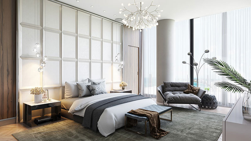 A Staging of a Bedroom with Brand Furniture and Decor as a Selling Points