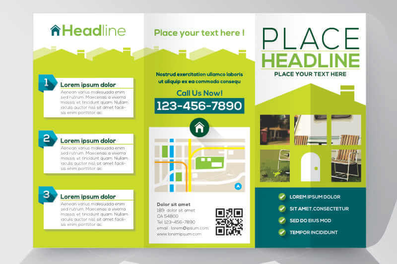A Vector Image of a Brochure Design for Property Promo
