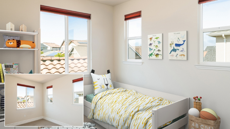 Before and After Images of a Real Estate that Were Made with CG Staging Solutions for Email Marketing and Promo