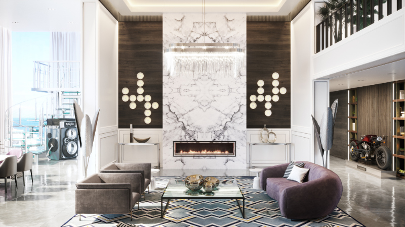 A Luxury Reference for Virtual Staging of a House Without Furnishings