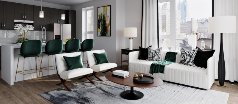 Virtual Interior Design for an Apartment that Was Made With 3D Modeling and Rendering Processes