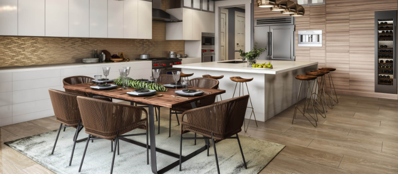 CGI of Modern Open Kitchen Ready to Be Used for Real Estate Listings