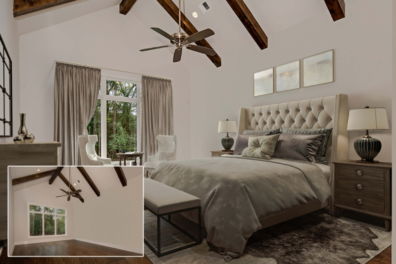 Photos of Before and After Using CGI for a Real Estate Interior