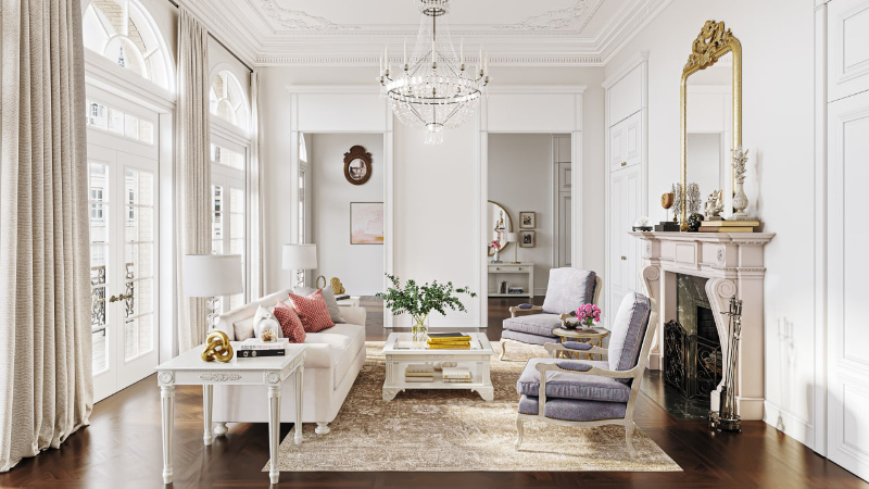 Using Mirrors in Furniture Staging to Make a Living Room Look Spacious