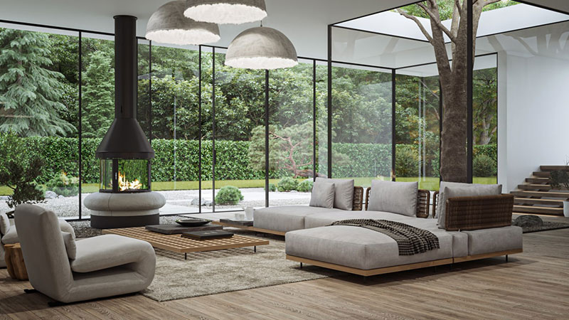 One of the Tips on How to Stage Furniture and Decor in a Living Room Using A View as a Focal Point