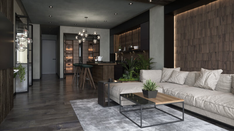 A Virtually Staged Homey Real Estate in Contemporary Interior Style